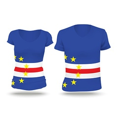 Flag shirt design of Cape Verde vector
