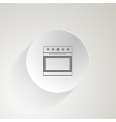 Flat icon for oven vector image