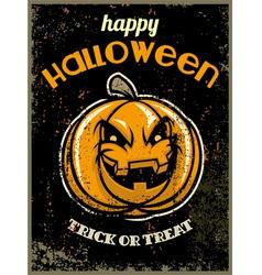 Halloween greeting card with halloween pumpkin vector
