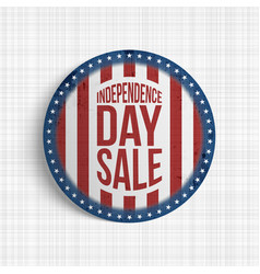 independence day sale circle realistic banner vector image