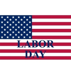 Labor day in us vector