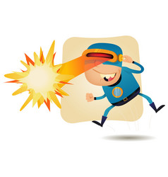 Laser beam head - comic superhero vector