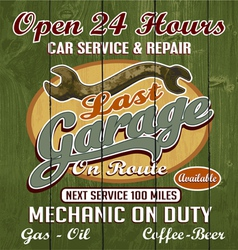 Last garage vector
