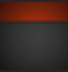Leather texture background vector