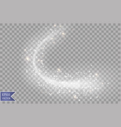 Light glow effect stars bursts with sparkles vector