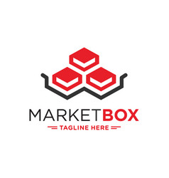 logistical package box logo vector image