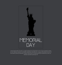 memorial day usa greeting card wallpaper vector image