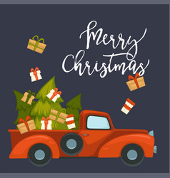 Merry christmas preparation for winter holiday vector