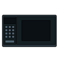 Microwave oven isolated icon vector