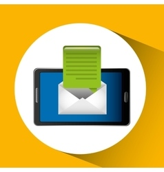 Mobile cellphone email message icon vector