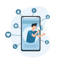 mobile marketing e-commerce internet advertising vector image