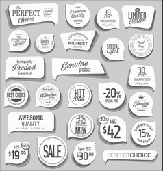 modern badges and labels collection 2 vector image