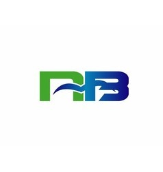 NB company linked letter logo vector