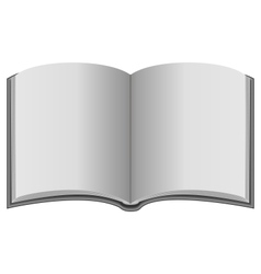 Open book in grayscale colors vector