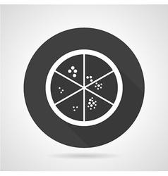 Petri dish black round icon vector