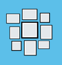 picture frame isolated blue background vector image