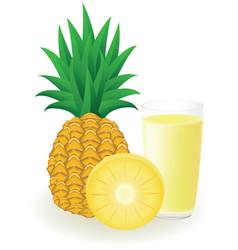 Pineapple juice vector