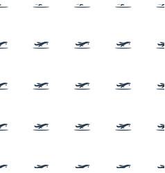 plane taking off icon pattern seamless white vector image