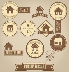Property For Sale Design Set vector