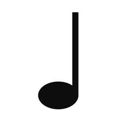 quarter music note icon simple style vector image