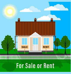 Realty for sale or rent vector