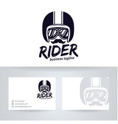 Rider logo design vector