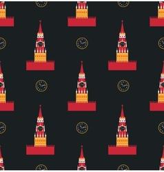 Russian kremlin seamless pattern vector