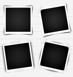 set of retro photo frames with shadows vector image