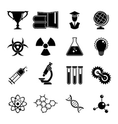 Set of science icons vector