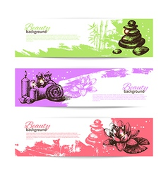 Set of spa banners vector image