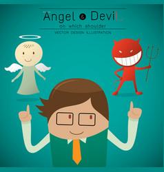 Shoulder angel and devil vector