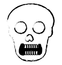 Skull head avatar character vector