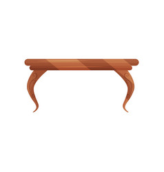 small vintage coffee table for living room vector image