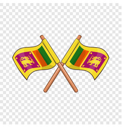 sri lanka flag icon cartoon style vector image
