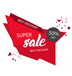 super sale best discount 50 off modern sale banne vector image