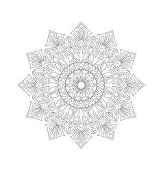 Symmetric ornament of coloring book vector