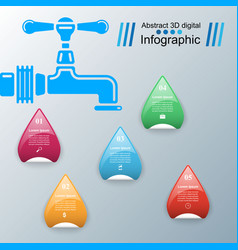 Tap icon business infographics vector