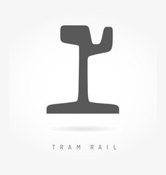 tram rail logo icon business urban transport vector image