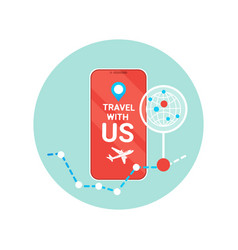 travel with us flyer of modern tourism agency vector image