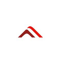 triangle stripe unusual company logo vector image