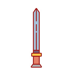 Videogame sword and medieval weapon vector