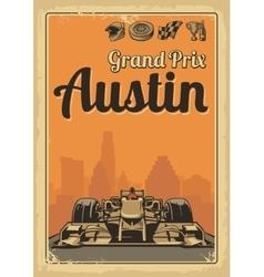 Vintage poster Grand Prix Austin vector image