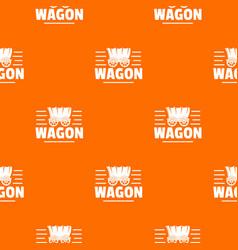 Wagon pattern orange vector