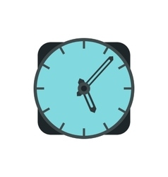 Wall clock icon in flat style vector image vector image