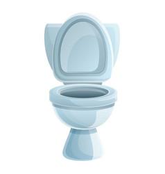 Washroom toilet icon cartoon style vector