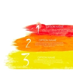 Watercolor Infographic Templates for Business vector image