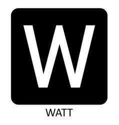 watt w symbol vector image