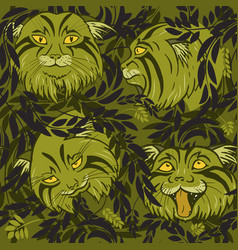 wild cats vector image