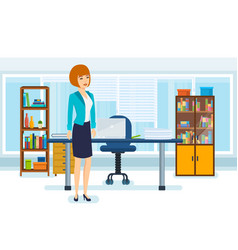 young business woman office interior vector image