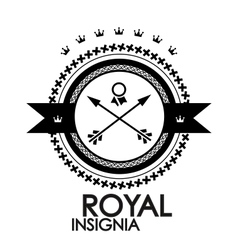 Black retro vintage label tag badge royal stamp vector image vector image